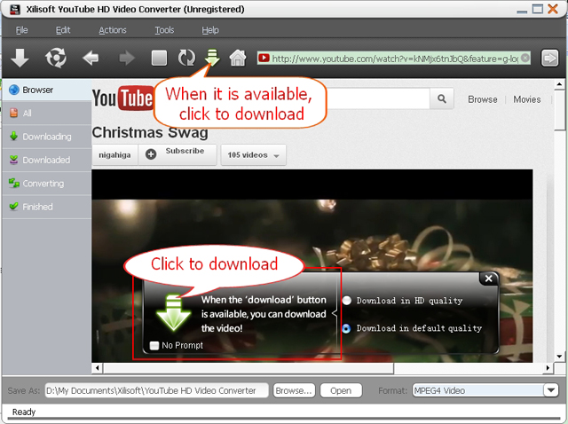 Galaxy Nexus YouTube HD Video Converter choose video