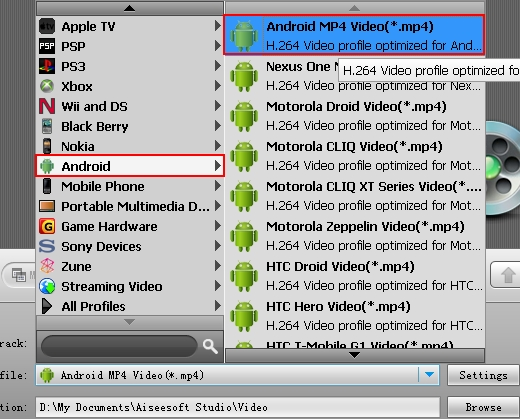 Droid Xyboard AVI MKV converter profile