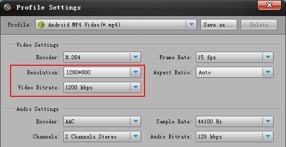Droid Xyboard 10.1 AVI MKV converter settings
