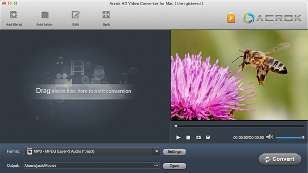 Convert video via Aovsoft HD Video Converter