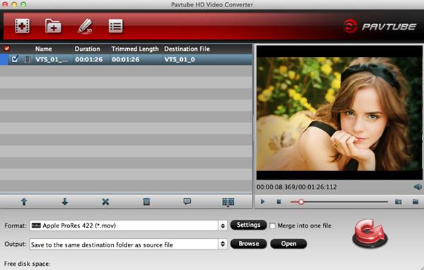 Convert Sony Alpha 58 AVCHD/MP4 video for Premiere, iMovie, FCE